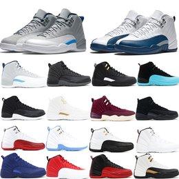 Jumpman 12 Basketbol Ayakkabı Tasarımcısı Spor CNY Gym Kırmızı Michigan Koleji Donanma Erkekler Kadınlar için Koşu Ayakkabıları Sneakers Ayakkabı nereden