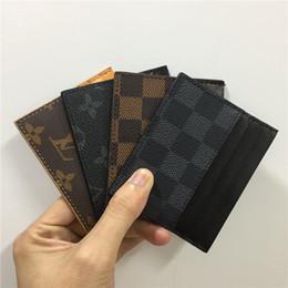 2019 bolso de mujer negro titular de la tarjeta de diseño billetera para hombre para mujer de lujo titular de la tarjeta bolsos de tarjeta de cuero monederos monederos pequeños monedero diseñador 8877673 bolso de mujer negro baratos