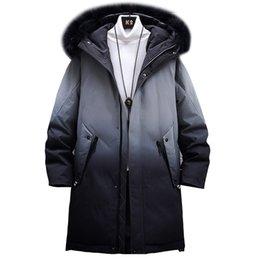 Abrigos de piel de hip hop de hombres online-2019 Invierno Parkas Chaquetas Hombre de Hip Hop caliente grueso rompevientos Coats Harajuku cuello de la piel Outwear ropa masculina MG447