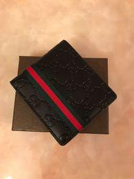 carteras nuevas Rebajas Billetera de 2018 G billetera de hombre, nueva marca, billetera de cuero, billetera de hombre de moda con bolsa de polvo.