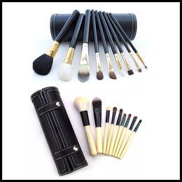 Накей теней для век онлайн-EPACK 9pcs Наке макияж кисти наборы Косметические фонд BB крем Румяна Тени для век для губ Макияж кисти с зеркалом