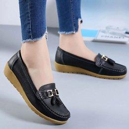 резиновая лодка Скидка Лодка обувь для женщин Моды Fringe обуви из натуральной кожи дамы плюс размером 41-44 кисточка Резиновой обуви Женщина 2019