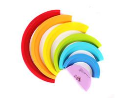 разноцветный арочный мостик изделие Радуга деревянный Головоломка для маленьких и маленьких детей раннего образования игрушка Jenga Высота укладки от