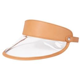 Berretto da sole unisex con visiera parasole in pvc Berretto con visiera  trasparente da sole cappello estivo Berretto con visiera in PVC moda  LJJK1198 d9a574fabd80