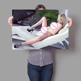 imagens de cute girl sexy Desconto Bonito sexy girl poster sala de estar quarto home decor art retrato da parede Art Decor cartazes de parede pintura da lona Y44