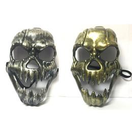 2019 full face skull mask Esqueleto de Máscara de Horror Do Crânio Do Dia Das Bruxas Máscaras Masquerade Grito Adulto Máscara de Rosto Cheio Retro Máscara Do Crânio Canino EEA178 full face skull mask barato
