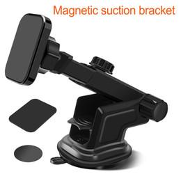 montagem magnética de tableta Desconto Suporte magnético do suporte do pára-brisa do carro para a tabuleta longa do telemóvel do braço para o suporte do telefone do ímã de Iphone XR