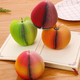 2019 notas da folha Notas pegajosas DIY de frutas legumes almofadas de memorando etiqueta de papel de escritório Stationery Publicar Bookmark Memo etiqueta de papel