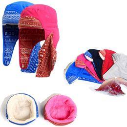 chapeau feng Promotion Jeunesse paragraphe même Lei Feng casquette hiver  hiver chaud oreille casquette ski femme 691926f7c29
