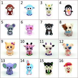 c c beanies Coupons - 16 Design Squishy PU Ty Beanie Boos Unicorn toys squishy Slow rebound squishy Simulation Funny Gadget Vent Big Eyes Animals toy C