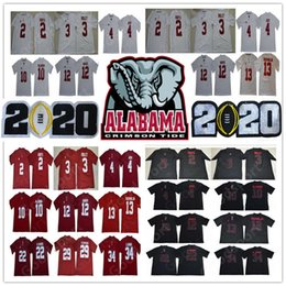 2020 calcio alabama 2020 play off NCAA Alabama Crimson Tide College Football 20 Tua Tagovailoa Jersey Jerry Jeudy Damien Harris Najee Jalen Hurts sconti calcio alabama