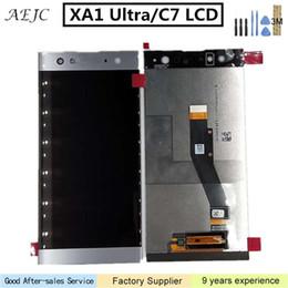 2019 novas peças para telemóvel Para Sony Xperia C7 XA1 Ultra G3221 G3212 G3223 G3226 LCD Touch Screen digitador Assembléia teste One By One LCD de 6,0 polegadas