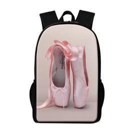 diseñador de ballet Rebajas Diseñador-Linda Mochila escolar para bailarinas de ballet para adolescentes Estiloso ligero Bookbag Pattern Toe Zapato Personalizado Mochila para niños