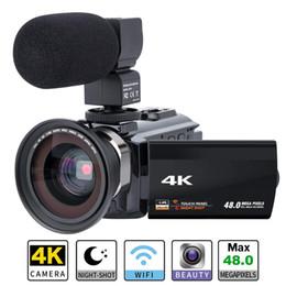 Videocámara Videocámara 4K Cámara digital Ultra HD WiFi 48.0MP 3.0 pulgadas Pantalla táctil Visión nocturna 16X Grabador de zoom digital con micrófono desde fabricantes