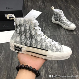 2019 atadura de borracha SNEAKERS B23 ALTA topo em oblíqua sapatos de grife de luxo Homens e mulheres de alto-top sapatos casuais 3SH118YJP_H069 Tamanho Masculino de qualidade superior 35-44