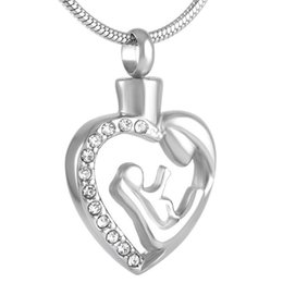 EoCot Stainless Steel Ashes Pendant Engraved My Sister My Friend Heart Urn Keepsake Necklace