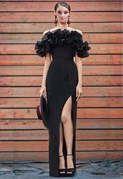 ce3592bfacdd6 off shoulder maternity maxi dress Promo Codes - Sexy Evening Dress Off  Shoulder Maxi Dress Black