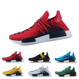 c9bf54708 Corrida humana HU nmd Pharrell Williams Trail Designer Mens Sports neutros  spikes Sapatos de corrida para Homens Sapatilhas Das Mulheres Sapatos  Casuais ...