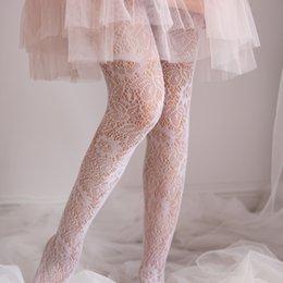 collant giapponesi Sconti Collant Sweet Lolita in stile giapponese, in pizzo nero bianco, calze velate stockSilk calze 1 ordine = 1pz