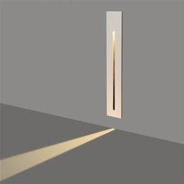 luzes de passo modernas Desconto Retangle Recessed conduziu a luz da etapa da luz da escada do terraço das luzes 3W do assoalho conduziu a luz interna Recessed o sinal da luz do canto da parede da caverna para o parque do hotel