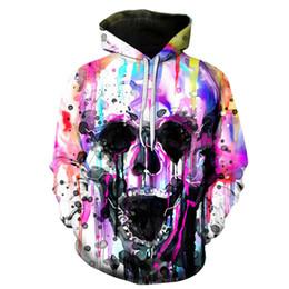 Canada 2019 New Ink Mixed Skull Art Vêtements de protection pour hommes à manches longues 3D numérique et européennes supplier american ink Offre