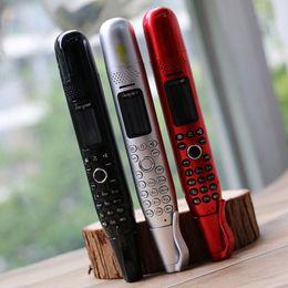 """2019 smartphone en acier inoxydable AK008 stylo d'enregistrement Mini téléphone portable 0,96 """"GSM petit écran GSM Dual SIM caméra lampe de poche Dialer téléphones mobiles"""