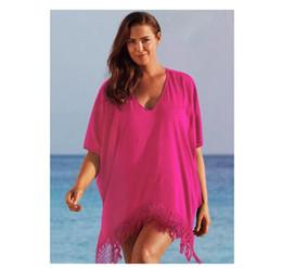 2019 ropa sexy de vacaciones Mujeres atractivas más el tamaño de la borla Bikini Cover Up Fringe vestido de playa Traje de baño Holiday Beach Wear L Xl Xxl Xxxl 4xl ropa sexy de vacaciones baratos