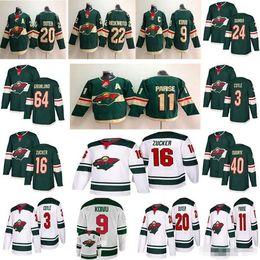 Discount minnesota wild hockey jersey - 2019 New mens hockey Minnesota Wild  11 Zach Parise 16 5c91658b6
