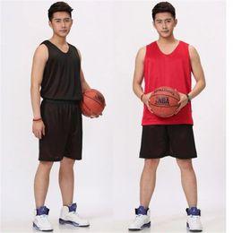 2019 basketballdruckgewebe Doppelseitige Basketball Kleidung Anzug Männliche Qualität Atmungsaktivem Stoff Basketball Uniform Benutzerdefinierte Gedruckt Anzahl XXXXL jooyoo