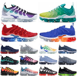popular de tênis das mulheres Desconto Nike air max vapormax A maioria Popular Racer Vermelho Azul TN Mais de homens do desenhista sapatos brancos Psychic rosa Berinjela Correndo instrutor Womens Sneakers