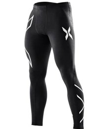 Canada Pantalon de compression pour designer Jogger pour hommes Fashion X Design Pantalon de sport noir à taille élastique supplier athletic compression pants Offre