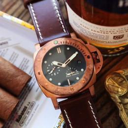 Diseñador de lujo Automático P9002 bronce mecánico / titaniu Automático P9002 bronce mecánico / caja de titanio reloj vidrio recubierto de arco 47 mm * 16 mm desde fabricantes