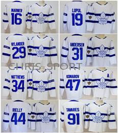 Toronto Maple Leafs Stadium Serie Hockey Trikots # 16 Mitchell Marner 34 Auston Matthews 29 Nylander 91 John Tavares 47 Komarov 44 Rielly von Fabrikanten