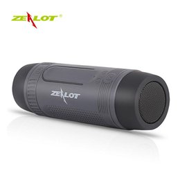 Фонарик s1 онлайн-Zealot S1 портативный беспроводной Bluetooth колонки с аварийной открытый фонарик Powerbank более 20 часов игрового времени Бесплатная доставка