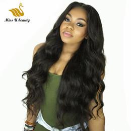 2020 parrucche lunghe spesso Brasiliana Parrucche lungo del merletto anteriore piene del merletto dei capelli umani per le donne corpo onda ondulato spessa 150% Densità Virgin dei capelli sconti parrucche lunghe spesso