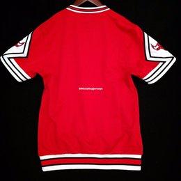 100% genäht Mitchell Ness blank Großhandel Shooting Shirt Mens Weste Größe XS-6XL genäht Basketball Trikots Ncaa von Fabrikanten