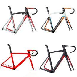 Cuadro de fibra de bicicleta de carretera online-2019 Cento 10 aire camino fibra de carbono ciclismo bicicleta marco carretera bicicleta marco tenedor abrazadera tija de sillín ALABARD carbono manillar espaciador