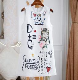 Дешевые принты онлайн-Самый дешевый новый женский темперамент летняя маленькая короткая юбка платье без рукавов с принтом