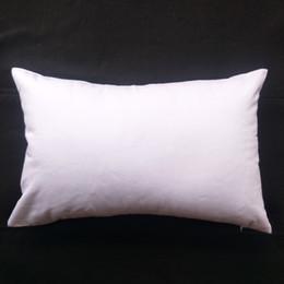 1pc 11x17in 200GSM spessore bianco bianco twill di cotone legname cuscino copertura per fai da te vernice / stampa puro cotone bianco cuscino per schermo fai da te da coperture all'ingrosso del sedile dell'automobile del fumetto fornitori