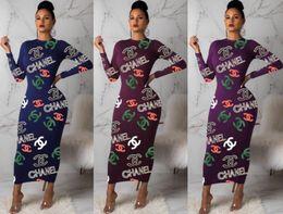2020 knöchellänge einteilige kleider Frauenentwerfer Rock lange Hülse einteiliges Kleid hohe Qualität dünn Maxikleid sexy elegante Art und Weise Rock knöchellangen Kleid klw2470 günstig knöchellänge einteilige kleider