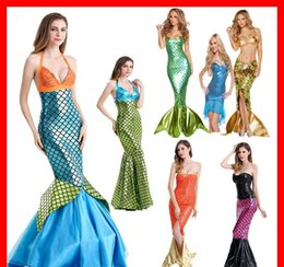 sexy party tv xxl Promo Codes - Halloween Mermaid Princess Cosplay Designer Sexy Womens Theme Costume Party Stage Clothes
