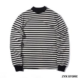 17e660b5a76 Fear Of God Best Version 1 1 Quality Long Sleeve T shirt Striped Women Men  Hiphop T shirts tee Fear Of God Tops FOG Oversized D18122902