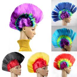 perucas de cabelo engraçado Desconto Palhaço Modelagem Punk Peruca Adereços Vestido Desempenho Engraçado Fofo Cocks Pente Chapéus de Cabelo Chapéu de Dia Das Bruxas Dança Festa de Casamento Bar
