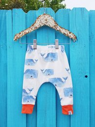 cute sweet cartoons Promo Codes - Everweekend Sweet Baby Newborn Cute Cartoons Fish Print Pants Westwern Toddler Lovely Kids Ins New Pants