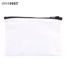 wholesale custom pouch cosmetic bag Promo Codes - OIVEFEET,Tyvek Waterproof White Cosmetic Bag Beauty Makeup Pouch Clutch Storage Toiletry Bag Wet Swimsuit Custom Accept