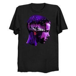 Maglietta calda degli uomini neri online-Stranger Things Eleven Black TShirt da uomo T-shirt T-shirt da donna con taglia T-shirt