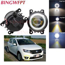 dacia sandero Desconto 2x Acessórios Car LED nevoeiro Anjo Eye com vidro len Para Dacia Duster Logan Sandero 2004-2015 Para Fluence L30