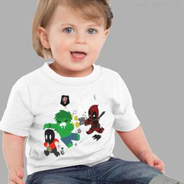 2019 crianças camisa branca atacado Atacado 2019 superhero marvel comics personagens do filme branco impresso algodão de manga curta T-shirt de verão macio apto para crianças crianças camisa branca atacado barato