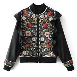 Argentina 2019 prendas de vestir exteriores de la ropa de la vendimia del bordado de cuentas cortas de las señoras chaqueta femenina elegante casual abrigo mujeres tops b546 supplier ladies embroidery jackets Suministro