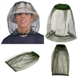 Red solar online-Senderismo al aire libre Mosquito Net Cap Camping Travel Set Cabeza Insectos A Prueba de Insectos Blackish Green Simple Moda Sombrero de Pesca LJJZ411